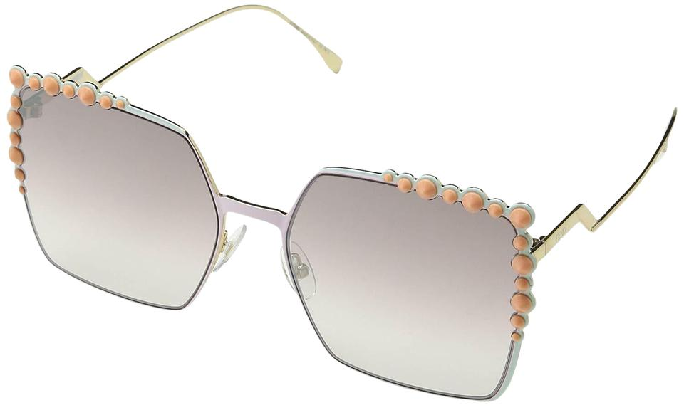 41aefbc6 Fendi Pink/Brown Mirror Lens Ff0259 2o5 Ff 0259 Run Away Square Sunglasses  56% off retail