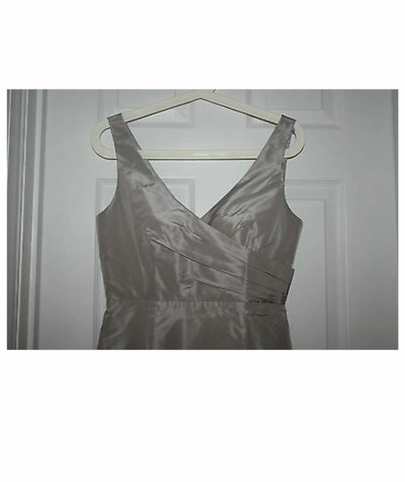 J.Crew Driftwood Silk Sara In Taffeta Aged Formal Bridesmaid/Mob Dress Size 4 (S) Image 2