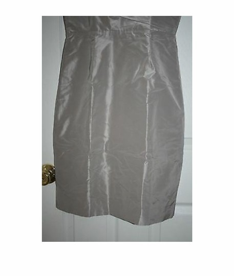 J.Crew Driftwood Silk Sara In Taffeta Aged Formal Bridesmaid/Mob Dress Size 4 (S) Image 3