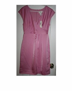 J.Crew Azalea Silk Cecelia Shift In Tricotine P4 Formal Bridesmaid/Mob Dress Size Petite 4 (S)