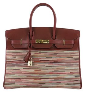 Hermès Tote in Rouge H dark red