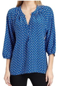 Joie Addie Silk Addie B Top Blue