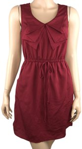 BeBop short dress Red Sleeveless Faux Bow Neckline Cinched Waist on Tradesy
