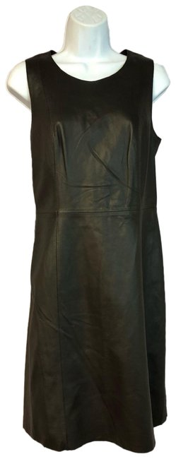 Item - Chocolate Leather Short Casual Dress Size 6 (S)