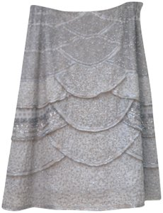 Valentino Ss 2007 Sequins Skirt silver