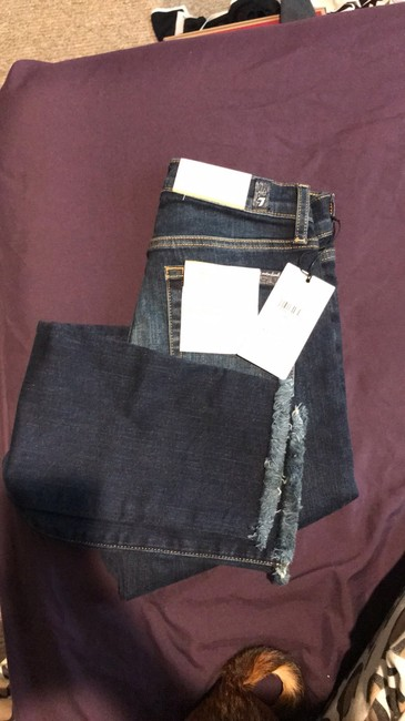 7 For All Mankind Straight Leg Jeans-Medium Wash Image 6