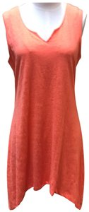 neon buddha short dress salmon orange color on Tradesy