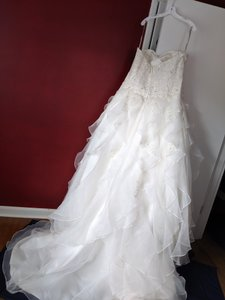 Alfred Angelo Ivory E00538 Formal Wedding Dress Size 18 (XL, Plus 0x)