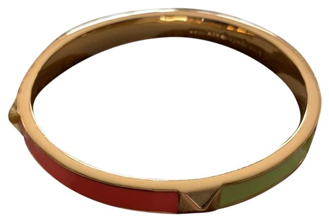 Item - Gold Neon Green Neon Orange White and Gold Bracelet