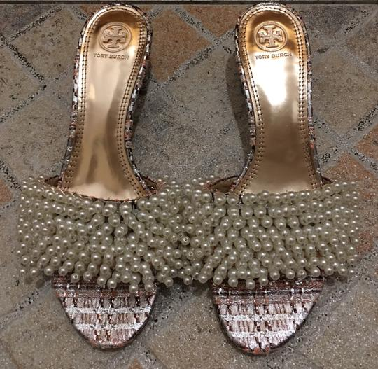 Tory Burch Gold pink Sandals Image 1