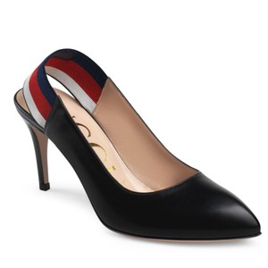 Gucci Webby Marmont Ribbon Leather black Pumps