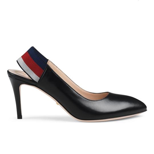 Gucci Webby Marmont Ribbon Leather black Pumps Image 1