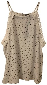 Papermoon white with black dots Halter Top