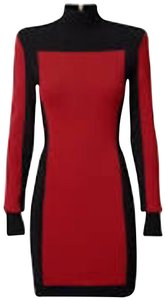 Balmain x H&M short dress Red and Black on Tradesy