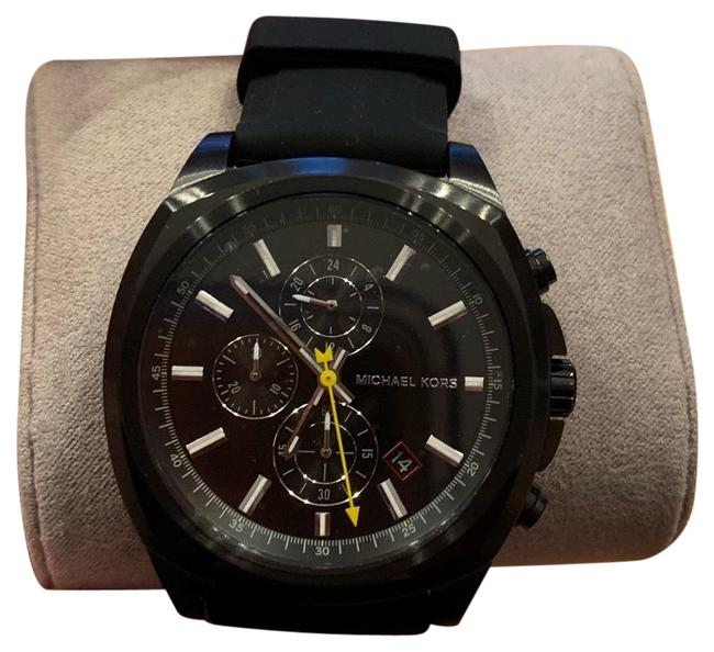 Item - Black New Men's Bryson Stainless Steel Silicone Style Mk8649 Watch