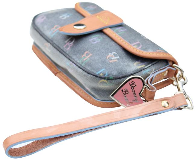 Item - Logo Multi Color Coated Canvas Leather Wristlet