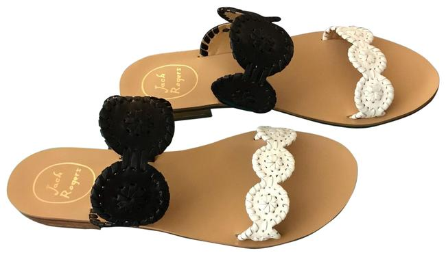Item - Black and White Colorblicked Lauren 1217ss0004 Sandals Size US 8 Regular (M, B)