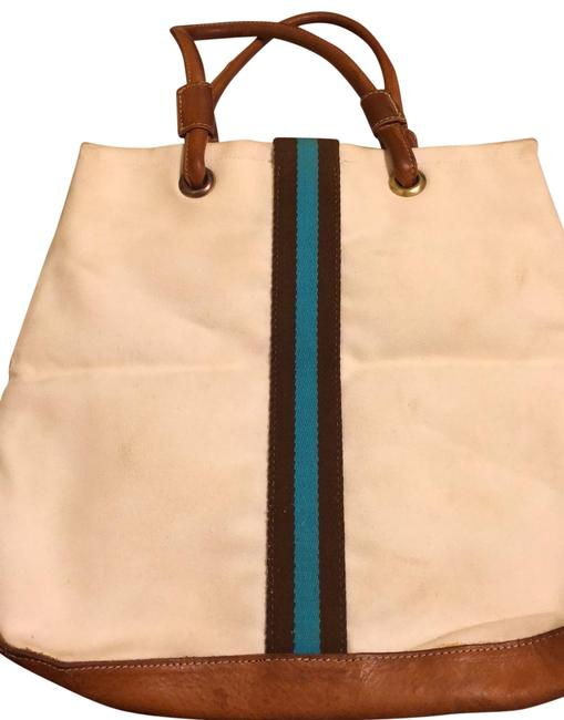Item - And White Canvas/Leather Tote