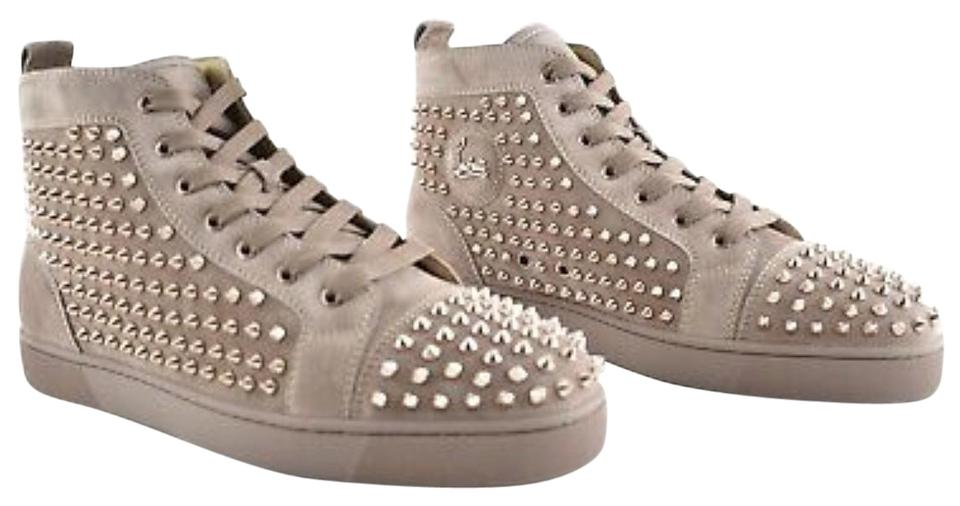 quality design 49ff7 4fcc2 Christian Louboutin Tan/Beige Men's Louis Crystal-spike Suede Sneakers Size  EU 39 (Approx. US 9) Regular (M, B) 31% off retail