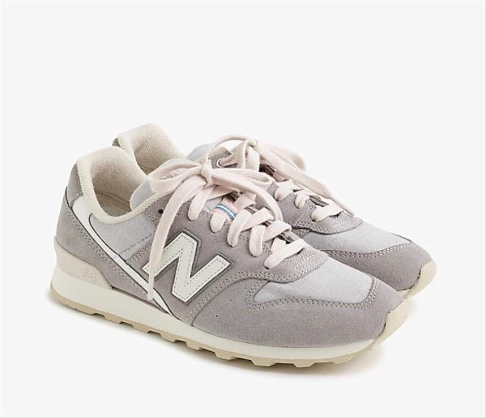 online retailer 18a7d e6d95 J.Crew Gray New Balance Marble White Suede 696 Tennis Sneakers Size US 7  Regular (M, B) 34% off retail