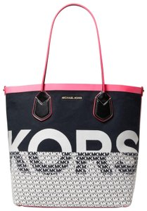 Michael Kors Cotton Pink/Multi 31t9go0t3q Tote in Neon Pink/Multi
