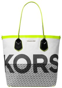 Michael Kors Cotton 31t9go0t3q Yellow/Multi Tote in Acid Yellow/Multi