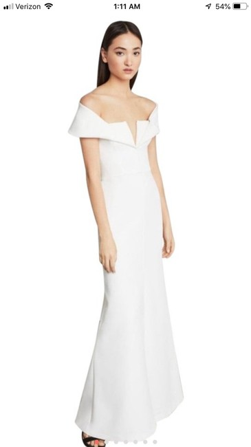 Item - White Amalie Off Shoulder Gown Formal Wedding Dress Size 8 (M)