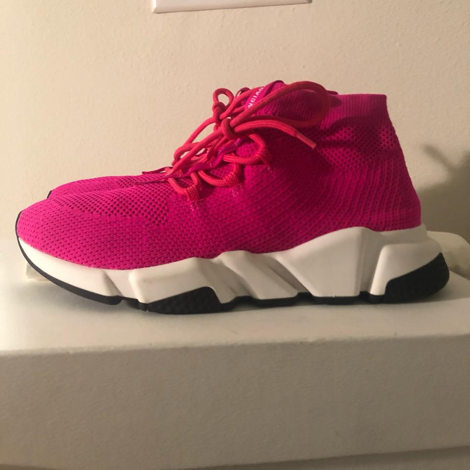 8a247663d9c Balenciaga Pink Low Speed Lace Up Sneakers Size US 9 Regular (M, B) 15% off  retail