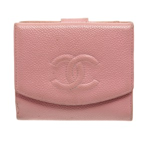 Chanel Chanel Pink Caviar Leather Vintage Timeless Compact Wallet