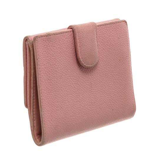 Chanel Chanel Pink Caviar Leather Vintage Timeless Compact Wallet Image 2