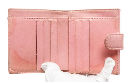 Chanel Chanel Pink Caviar Leather Vintage Timeless Compact Wallet Image 4