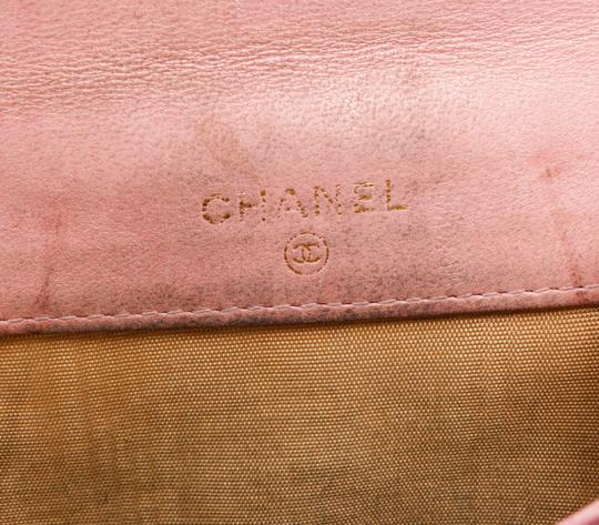 Chanel Chanel Pink Caviar Leather Vintage Timeless Compact Wallet Image 6