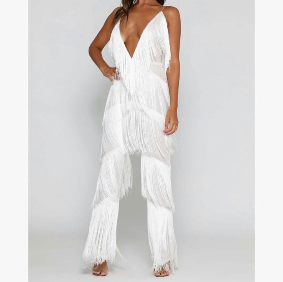 reasonably priced new lower prices shoes for cheap White Romper/Jumpsuit - Tradesy