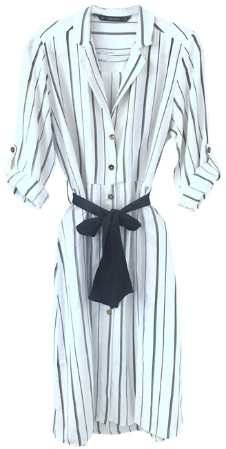 Item - White Basics Striped Midi Long Casual Maxi Dress Size 6 (S)