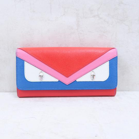 orange-monster-leather-continental-wallet by fendi
