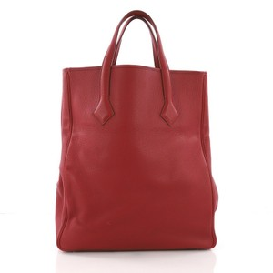 Hermès Tote in Rouge Garance red