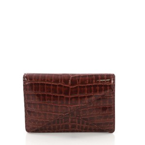 Bottega Veneta brick red Clutch