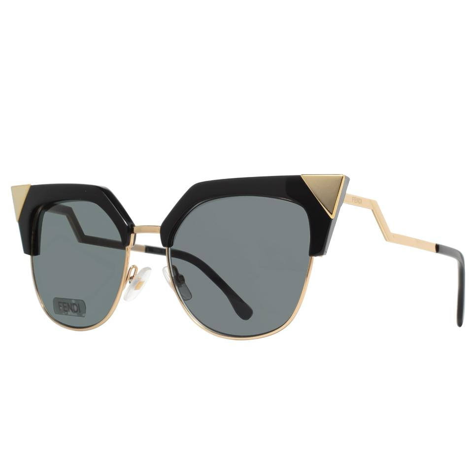 d37232ec Fendi Rew 00 Black Gold (P9 Gray Lens) Ff 0149/S Sunglasses 63% off retail