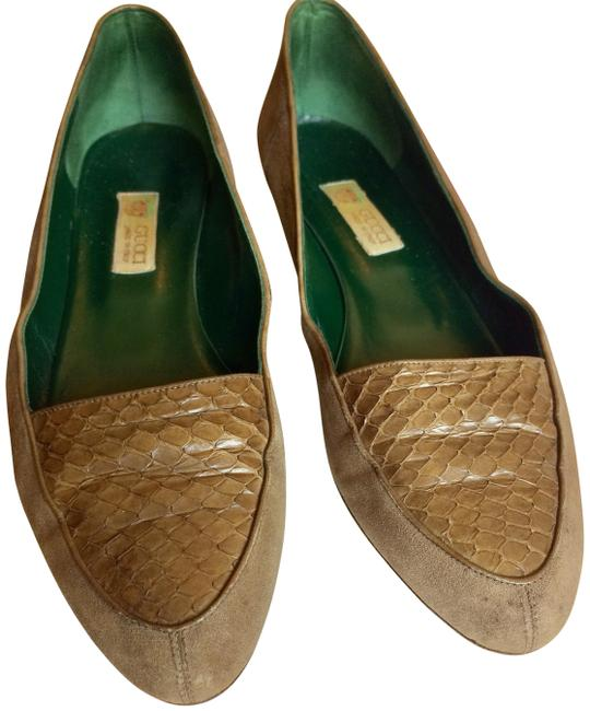 Item - Walnut Brown Classic Vintage 1930s Reptile Skin Slip-ons Formal Shoes Size EU 38.5 (Approx. US 8.5) Narrow (Aa, N)