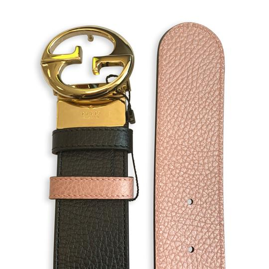 Gucci New 100% Authentic Gucci GG Reversible Belt Size 85/34 Black / Pink Image 1