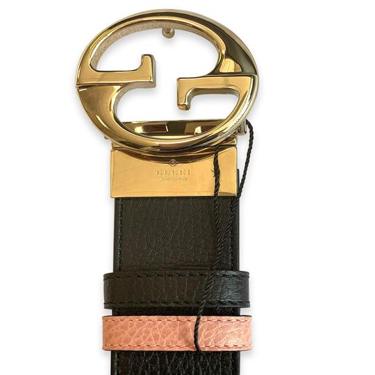 Gucci New 100% Authentic Gucci GG Reversible Belt Size 85/34 Black / Pink Image 3