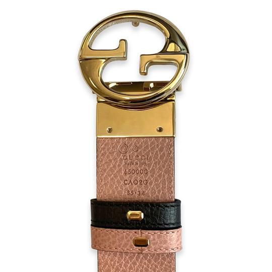 Gucci New 100% Authentic Gucci GG Reversible Belt Size 85/34 Black / Pink Image 4