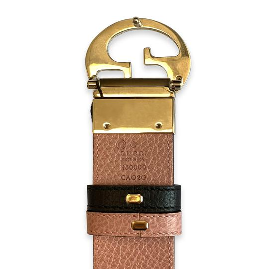 Gucci New 100% Authentic Gucci GG Reversible Belt Size 85/34 Black / Pink Image 5