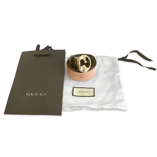 Gucci New 100% Authentic Gucci GG Reversible Belt Size 85/34 Black / Pink Image 6