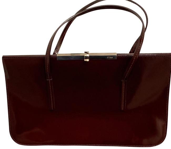 Item - Maroon Patent Leather Hobo Bag