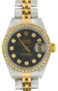 Rolex Rolex 79173 Datejust Two Tone AM Diamond Dial and Bezel Ladies Watch