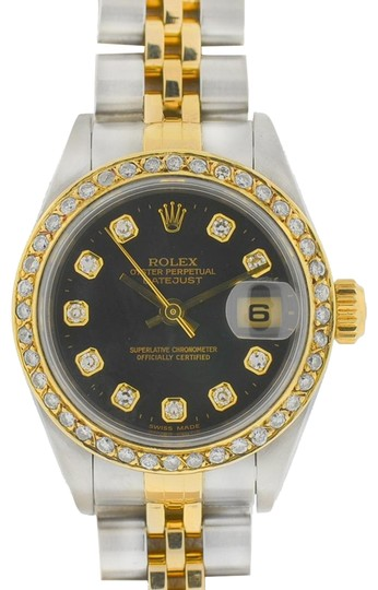 Preload https://img-static.tradesy.com/item/25668842/rolex-black-79173-datejust-two-tone-am-diamond-dial-and-bezel-ladies-watch-0-1-540-540.jpg