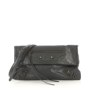 Balenciaga Leather gray Clutch
