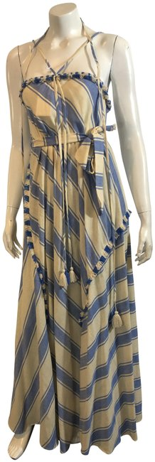 Item - Blue 1719 Ivory Cotton Long Casual Maxi Dress Size 4 (S)