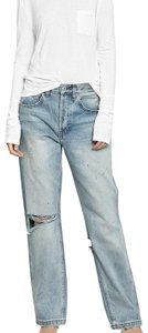 RE/DONE Distressed Pants Straight Leg Jeans-Distressed